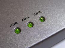 Indicatori luminosi del modem Immagine Stock Libera da Diritti