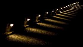 Indicatori luminosi del pavimento Fotografia Stock Libera da Diritti
