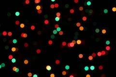Indicatori luminosi dell'albero di Natale Immagine Stock