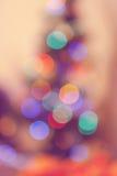 Indicatori luminosi dell'albero di Natale sfuocato Fotografie Stock Libere da Diritti