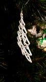 Indicatori luminosi dell'albero di Natale sfuocato Fotografia Stock