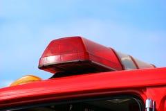 Indicatori luminosi dell'ambulanza o del camion dei vigili del fuoco Fotografia Stock