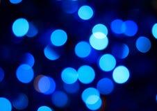 Indicatori luminosi dell'azzurro del partito Fotografie Stock Libere da Diritti