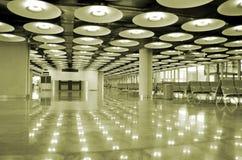 indicatori luminosi dell'interiore dell'aeroporto immagine stock