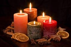 Indicatori luminosi della candela immagini stock libere da diritti