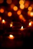 Indicatori luminosi della candela Fotografie Stock Libere da Diritti