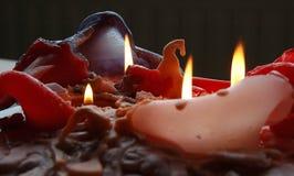 Indicatori luminosi della candela Immagini Stock
