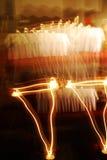 Indicatori luminosi della candela immagine stock libera da diritti