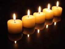 Indicatori luminosi della candela di natale Immagini Stock Libere da Diritti