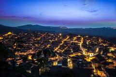 Indicatori luminosi della città Fotografie Stock