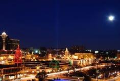 Indicatori luminosi della città fotografie stock libere da diritti