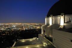 Indicatori luminosi della città di Los Angeles Immagine Stock