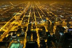 Indicatori luminosi della città di notte Immagini Stock Libere da Diritti