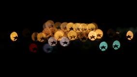 Indicatori luminosi della città di notte stock footage