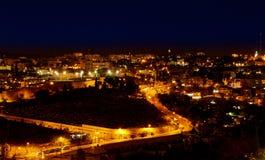 Indicatori luminosi della città di notte Immagine Stock Libera da Diritti