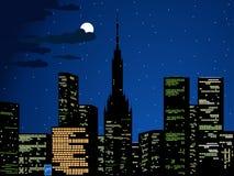 Indicatori luminosi della città, vettore Illustrazione Vettoriale