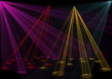 Indicatori luminosi della discoteca Immagini Stock Libere da Diritti