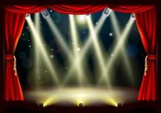 Indicatori luminosi della fase del teatro Immagine Stock Libera da Diritti