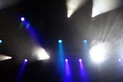 Indicatori luminosi della fase di concerto Immagini Stock