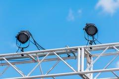 Indicatori luminosi della fase esterna Fotografie Stock