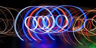 Indicatori luminosi della festa di Natale Fotografia Stock