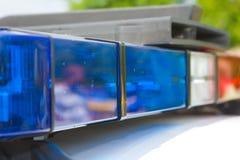 Indicatori luminosi della polizia Fotografia Stock