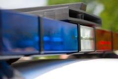 Indicatori luminosi della polizia Immagine Stock Libera da Diritti