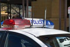 Indicatori luminosi della polizia Fotografie Stock Libere da Diritti