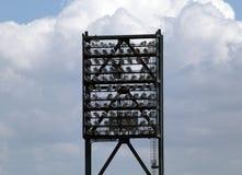 Indicatori luminosi dello stadio Fotografia Stock Libera da Diritti