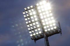 Indicatori luminosi dello stadio Fotografie Stock Libere da Diritti