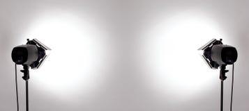Indicatori luminosi dello studio Fotografia Stock