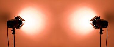 Indicatori luminosi dello studio Fotografie Stock