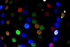 Indicatori luminosi di Bokeh Bella priorità bassa di natale e nuovo anno estratto festivo leggero con immagini stock