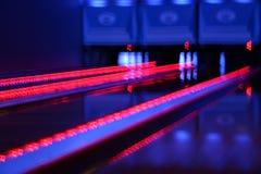 Indicatori luminosi di bowling Fotografia Stock