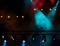 Indicatori luminosi di concerto Immagini Stock