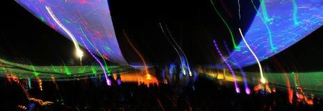 Indicatori luminosi di Dancing fotografia stock