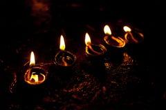 Indicatori luminosi di Diwali Fotografia Stock