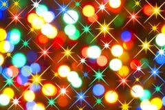 Indicatori luminosi di festa Immagini Stock