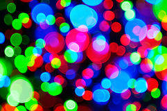 Indicatori luminosi di feste Fotografie Stock
