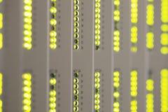 Indicatori luminosi di lampeggiamento Immagine Stock
