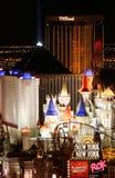 Indicatori luminosi di Las Vegas alla notte Fotografia Stock Libera da Diritti