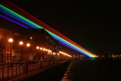 Indicatori luminosi di Lazer. Immagine Stock