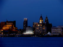 Indicatori luminosi di Liverpool Immagine Stock Libera da Diritti