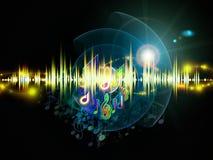 Indicatori luminosi di musica Fotografia Stock