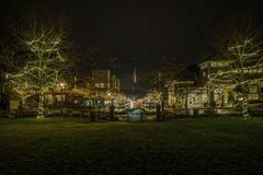 Indicatori luminosi di natale fotografie stock libere da diritti