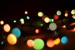 Indicatori luminosi di Natale Immagine Stock Libera da Diritti