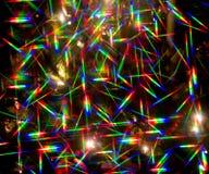 Indicatori luminosi di Natale astratti Fotografia Stock