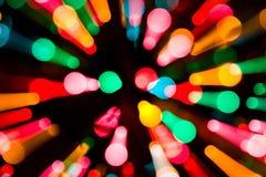 Indicatori luminosi di natale astratti fotografia stock libera da diritti