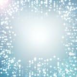 Indicatori luminosi di natale bianco astratti blu della priorità bassa Fotografie Stock
