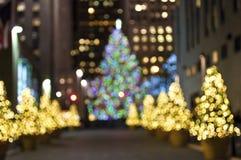 Indicatori luminosi di Natale caldi Fotografia Stock